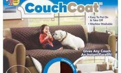COUCH COAT Tired of sofa slipcovers that require