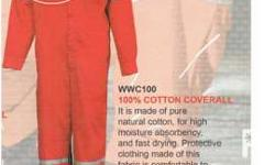 coverall 65/35 cotton polyester and 100% cotton