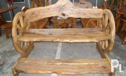 wheel chair for outdoor use. ( made of molave wood )