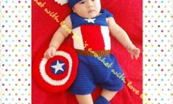 Made to order crochet costume for baby, we do
