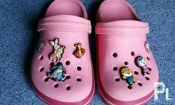 Original Crocs for your little girls, with jibbitz or