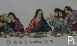 Cross Stitch ?Last Supper? Dims. L 16? x W 72? Unframed