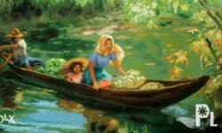 For sale Cross stitch painting By fernando amorsolo