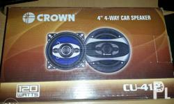 For sale: 1 set Crown car speaker 4 inches Brand new