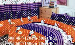 6/1 set curtains + bedsheet 2pillowcase 1bedsheet