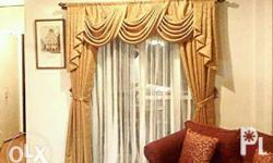 Customized curtains Pleated Gromet Swag Block out
