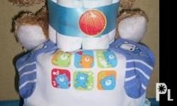 "Now accepting orders for customer diaper cakes. ""Our"