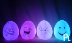 Color changing egg lights Material:ABS (like rubber)