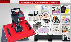 BRAND NEW! Heavy Duty 6 in 1 Heat Press Machine (2) Mug