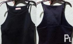 Dark Blue Croptop (Twice Used) With Design at the