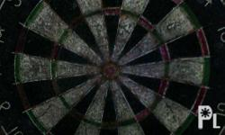dart board good condition clear negotiable