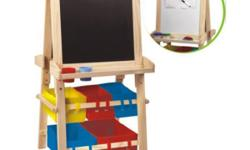 """Sturdy wooden frameEasy assemblyEncourages fine motor"