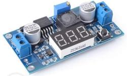 DC-DC Buck Converter with 7 Segment Display LM2596 This