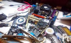 for sale defected motherboard, memory and video card