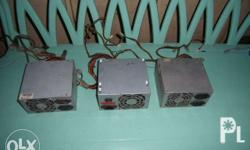 3 desktop power supply 200 pesos each not tested lately