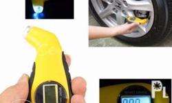 This Mini Tire Pressure Gauge with easy-to-read LCD