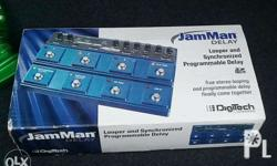 digitech jamman delay looper complete with box, manual