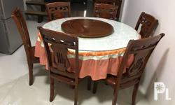 Used dining set for 6,Malaysian wood In a good