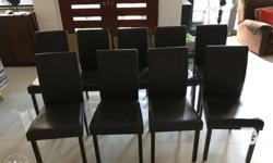 For sale are 3 second hand dining chairs bought from