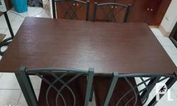 Dining Set 4 seater 6 months old In good condition RFS: