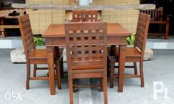 Dining Set - 1 table 32x42 - 4 chairs w/ lattice