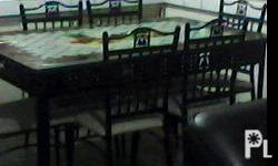 DINING SET 6 SEATER P8500 only with cover newly