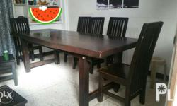Mahogany Solid wood kaya super heavy 8 feet long table