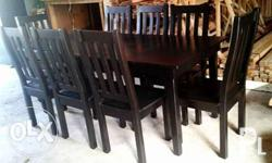 Dining table 8 seater Mahogany wood Brand new Visit