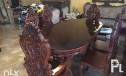 Very fresh narra dining sets,pure ang heavy duty