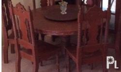 Six seater Dining set. All six chairs are made of narra