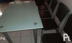 tempered glass dining table and chairs for sale for