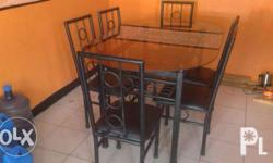 new fabracation color brown dining table/four settersi
