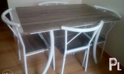 4 seaters Rectangle size White n ecru color Free
