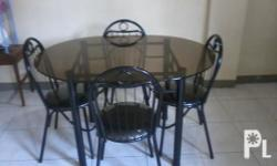 -Very Good Condition -Metal Frame -Solid Glass Surface