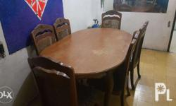 In good condition dining table chairs included.