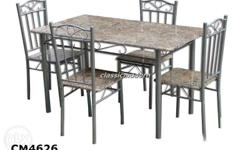 CM 4626 Dining Set 4-seater. Made of metal and MDF