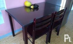Good as brandnew Dining Set wood 4 chairs With Table