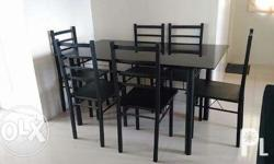6 seater dinning table glass, rush sale serious buyer