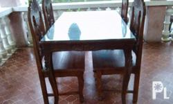 Dinning table with 4pcs. chair set, as is where is for