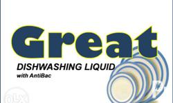 Affordable Dishwashing Liquid Available in Lemon and