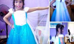 Disney Frozen Dress (wear only once) For Age 5-7 years