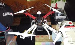 Dji fy450 quadcopter with naza gps. Battery and new set