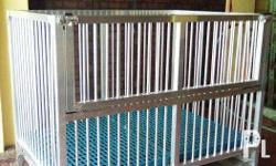 Dog Cage, Aluminum, Second Hand SIZE : 2 X 3 With Tray
