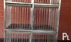 Stainless Dog Cage Slightly use for pick up only