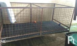 Heavy duty dog cages steel closing kennel four large