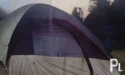 Tent with the Coleman Highline II Four-Person Dome