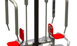 Outdoor Fitness Gym Equipment (Double Push-Up)