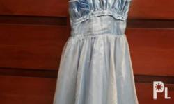 Dress color blue size 6 Call or text 09216768861