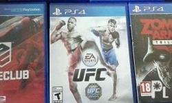 Driveclub, Ufc, Zombie Army Trilogy Ps4 Games Mint