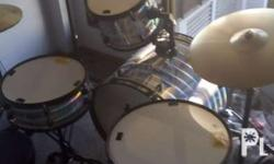 Rj drumset metallic silver 2months old Compose with: